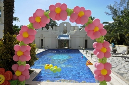 Boca raton party rental party rental decorations for Balloon arch decoration